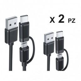2 Pezzi Cavo USB Dati...