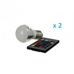 2 PZ Lampade Led E27 RGB 3W...